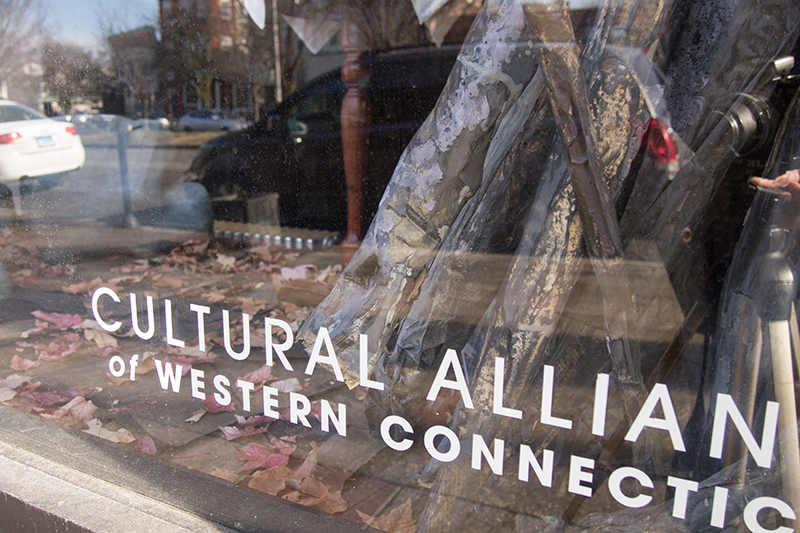 Window Installation at the Cultural Alliance of Western CT, 2016-2017