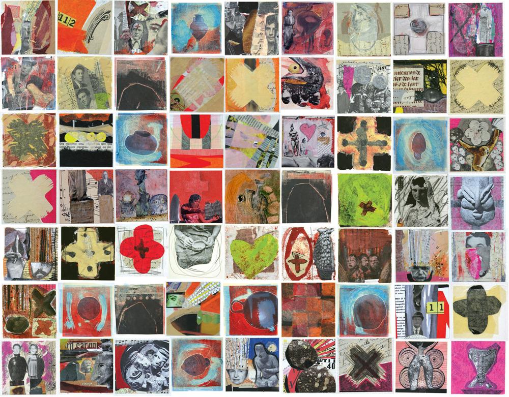 Online editor photo collage quilt