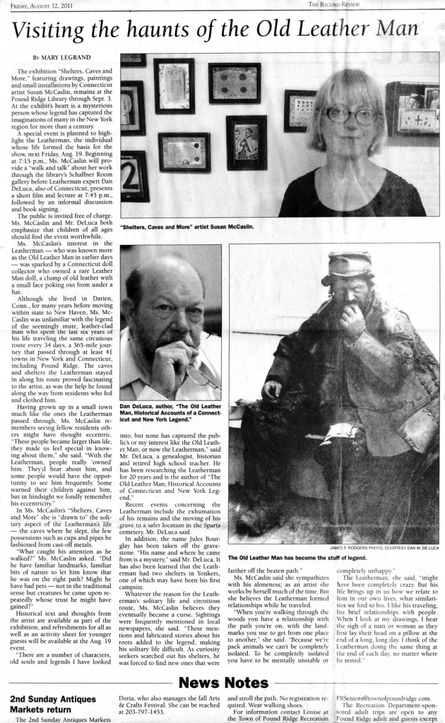 Image for article in the Bedford / Pound Ridge Record Review. 8-12-2011, Page 7